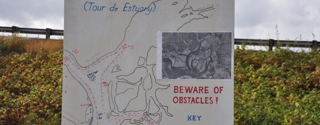 Map of Elk Island race course - Beware of obstacles!
